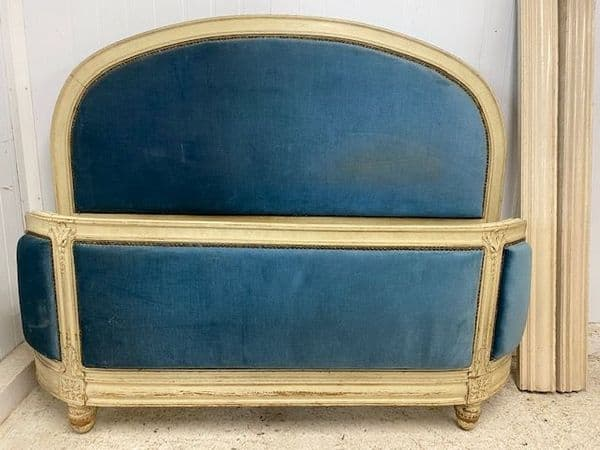 SOLD - RARE VINTAGE FRENCH KING SIZE BED - GREAT SHAPE - b25
